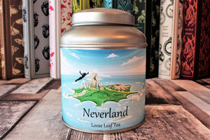 Neverland Tea in a tin