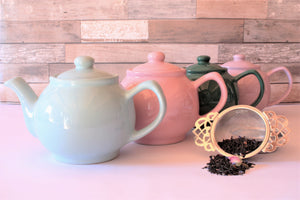 Range of tea pots and tea mugs including otions for built in infusers to make life easier