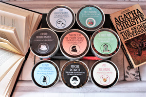 Range of Literary Tea packs reflecting authors and book titles