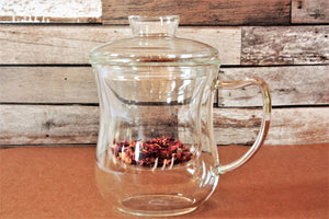 Jasmine Glass Mug with Glass Infuser