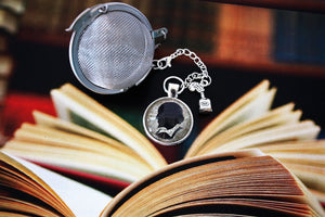 William Shakespeare Inspired Tea Infuser With Glass Cabochon