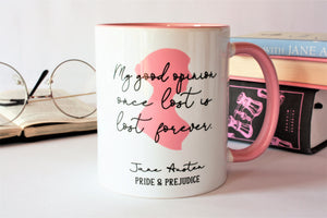 Jane Austen Mug - Mr Darcy Quote