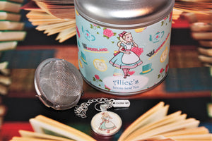 Alice's Tea Caddy Gift with teaball and cabachon