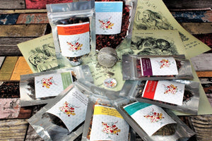 Alice's Wonderland collection of teas into individual bags so enabling you to buy a particular blend without committing to the whole collection.