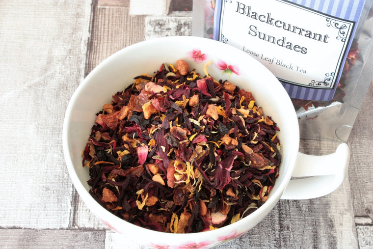 blackcurrant sundae fruit tea