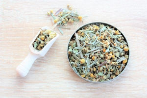 Chamomile and Lemongrass tea infusion