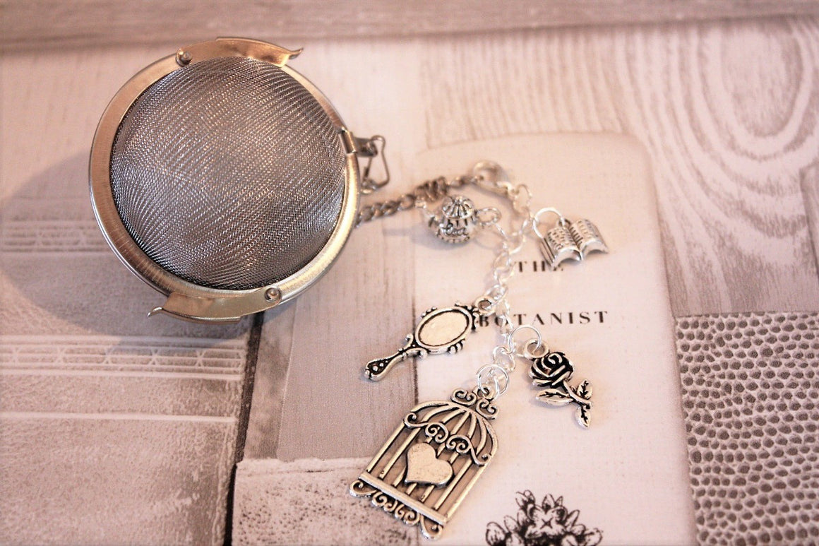 Jane Austen tea infuser and charm