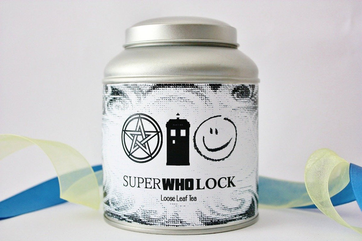 SuperWhoLock Loose Leaf Tea - Fandom Gift -  Supernatural - Dr. Who - Sherlock