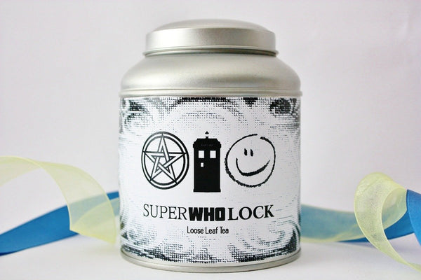 SuperWhoLock Loose Leaf Tea - Fandom Gift - Fandom Tea - Tea Gift - Tea - Supernatural - Dr. Who - Sherlock