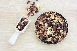 peach blossom fruit infusion tea