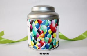 Personalise your tea caddy for a unique gift - balloons