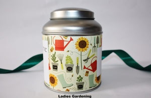 Personalise your tea caddy for a unique gift - ladies gardening