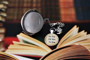 To Tea Or Not To Tea Glass Cabochon Tea Infuser