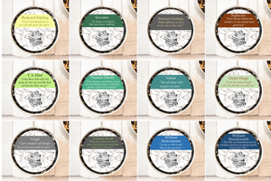 Literary Teas in Small Gift Tins - with quotes