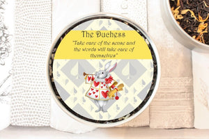 the duchess small round tea tin