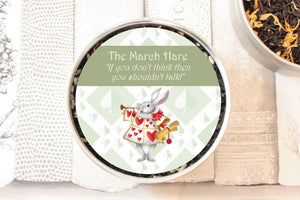 the march hare tea tin gift