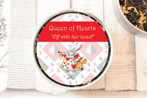 the queen of hearts tea gift tin