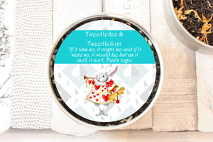 tweedle dee and tweedle dum tea gift tin
