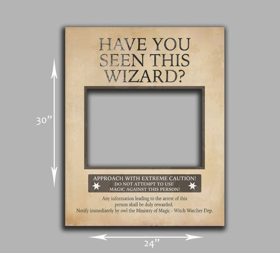 Have you seen this wizard, Printable DIY Poster Frame