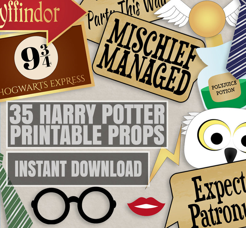 35 X Harry Potter Printable Party Props Pixels And Pine Printables