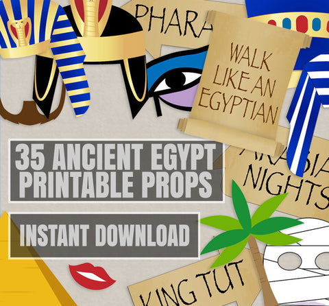 35 x Ancient Egyptian Party Printable Props