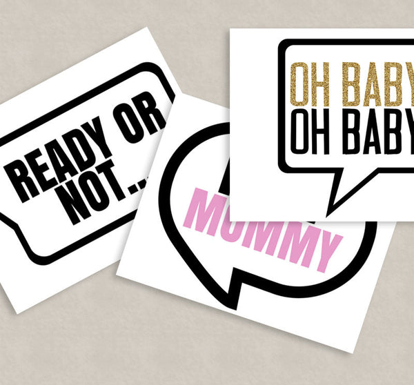 35 x Twins Gender Neutral Baby Shower Props