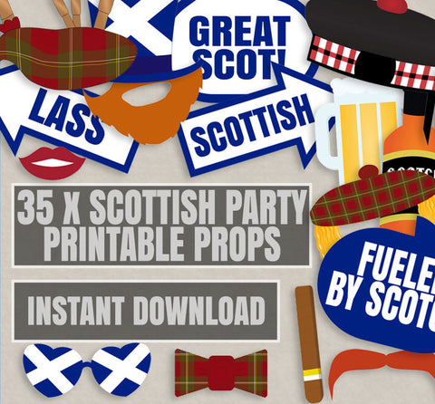 35 x Scottish Themed Party Props