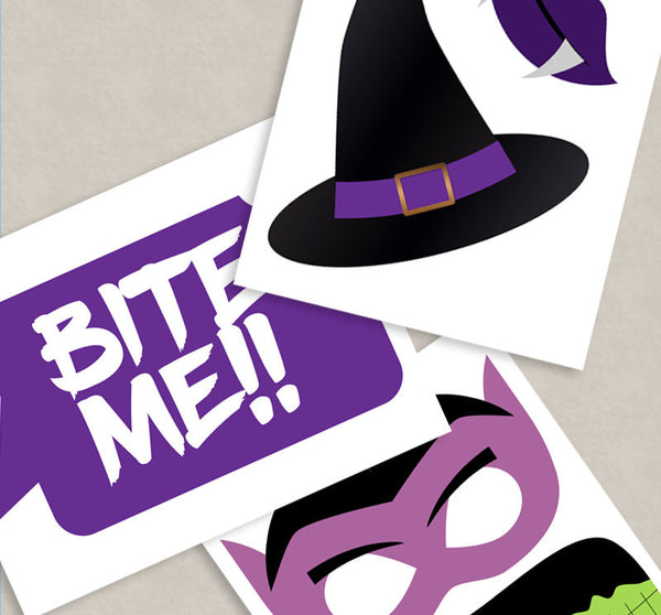 35 x Halloween Photo Booth Printable Props