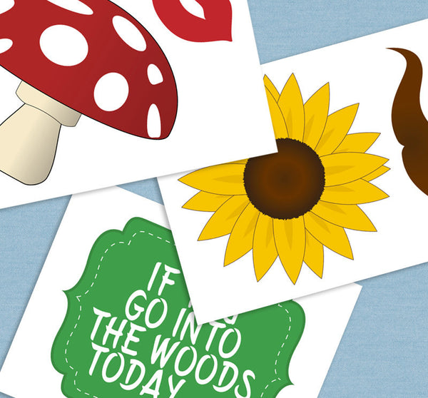35 x Woodland Forest Party Printable Props