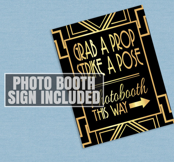 35 x Gangsters Printable Photo Booth Props