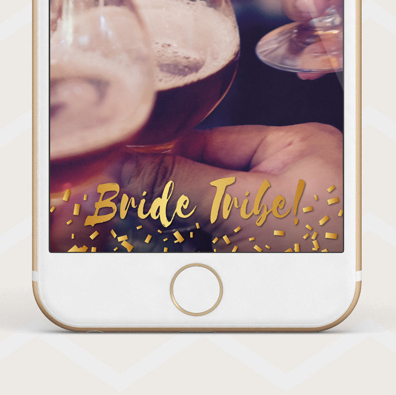 Instant Download Gold Bride Tribe - Snapchat Geofilter