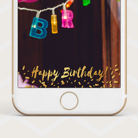 Instant Download Birthday Filter - Snapchat Geofilter