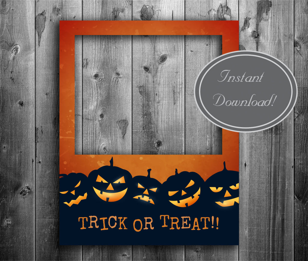 Halloween Poster Photobooth Frame Printable