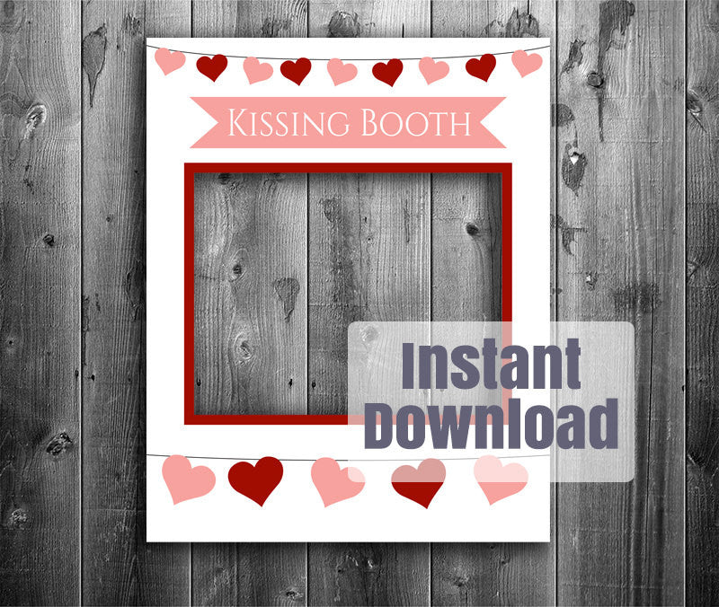 Kissing Booth Printable DIY Poster Frame