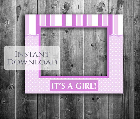 Printable Baby Shower Pink 'Shop Front' Photobooth Frame