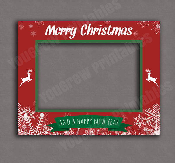 Printable Christmas Red and Green Poster Frame