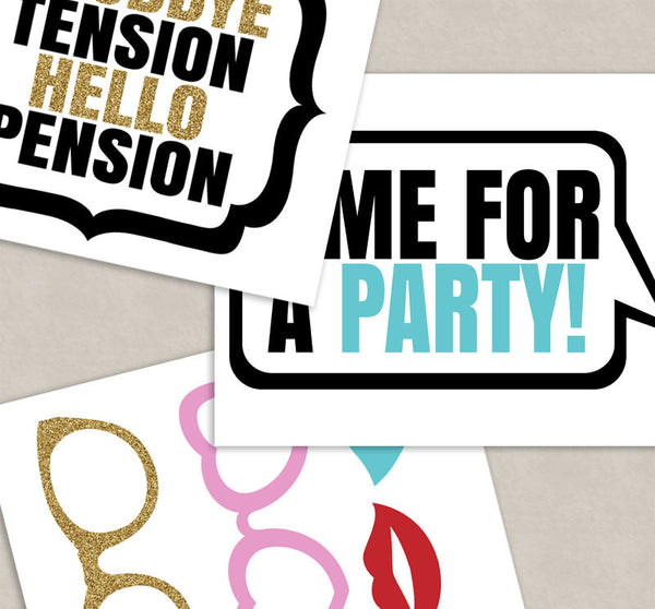 35 x Retirement Photo Booth Prop Printables