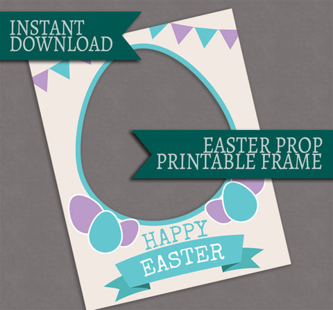 Printable Easter Photobooth Frame