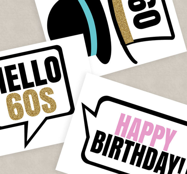 35 x 60th Birthday Party Photo Booth Props