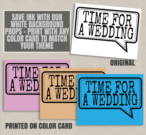 35 x Any Color Bridal Shower Printables - save ink with these black outline printables