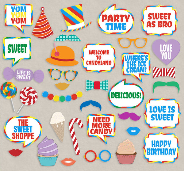35 x Candyland Party - Sweet Shop Printable Props