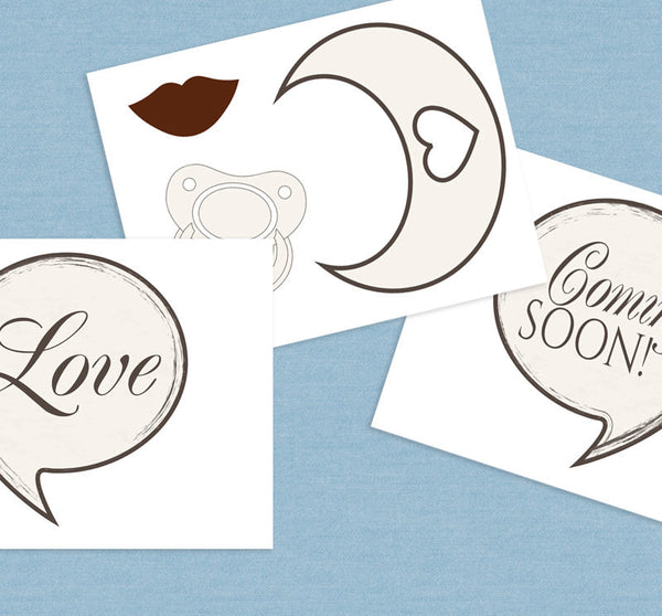 35 x Vintage Baby Shower Photo Booth Printables