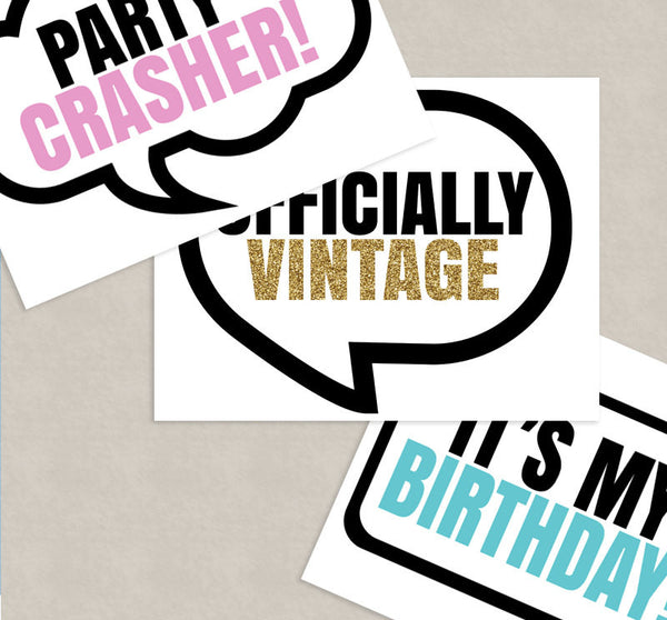 35 x 75th Birthday Photo Booth Printable Props