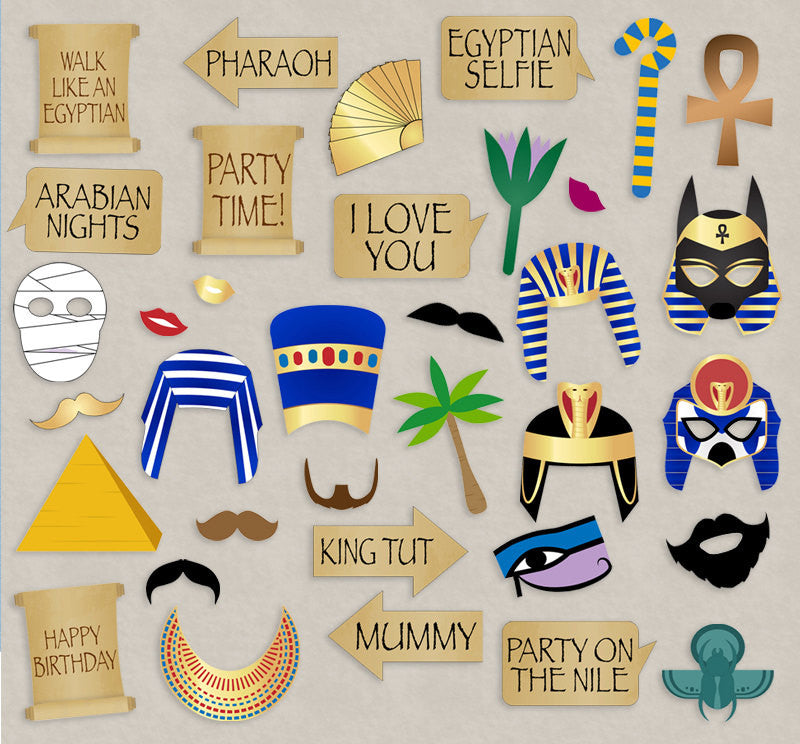 35 x ancient egyptian party printable props pixels and for Egyptian decorations for home