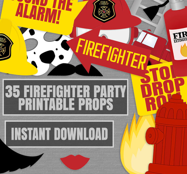 35 x Firefighter Printable DIY Props