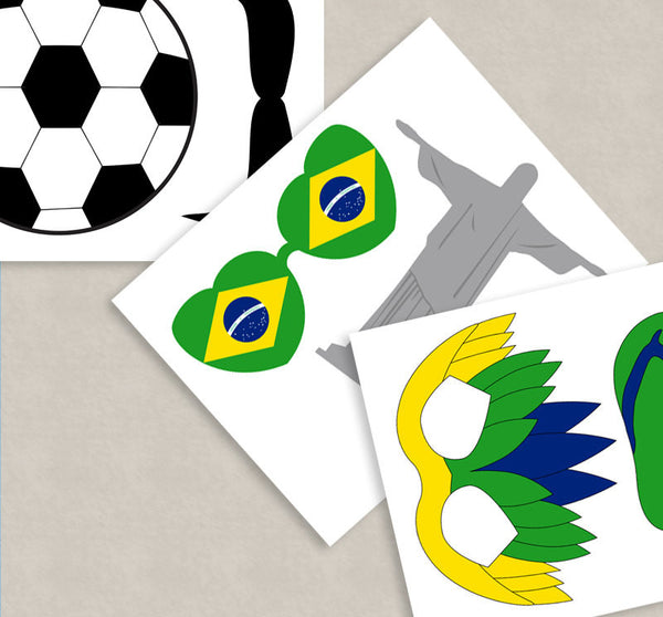 35 x Brazil Party Theme Photo Booth Props