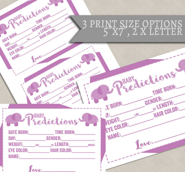 Baby Shower Printable Games, Set of 3, Pink Elephant