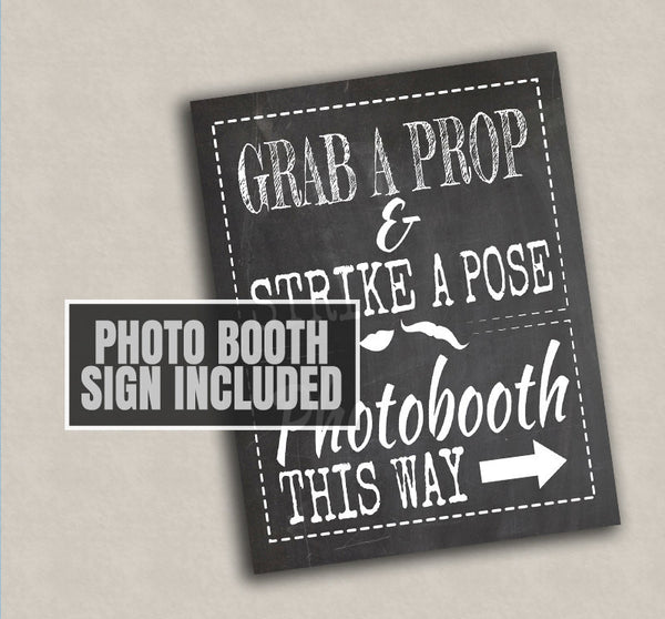 35 x Chalkboard 1st Birthday Photo Booth Props