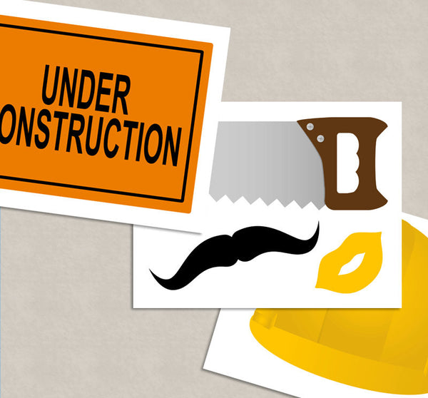 35 x Construction Party Printable Props