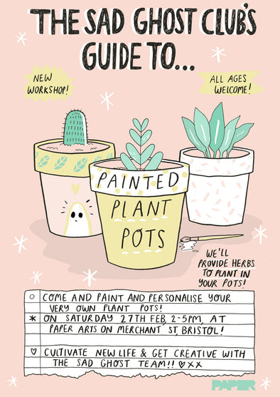 *NEW WORKSHOP* The sad ghost club's guide to painting plant pots